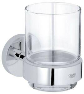 Grohe Glas Essentials mit Halter    Zahnputzbecher