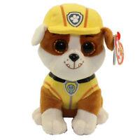 "TY Beanie Boos 6"" Paw Patrol RUBBLE Bulldog Plush Stuffed Animal Toy MWMT's"