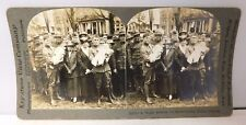 """Stereo View Card #19153 """"Happy Reunion For Home Coming Soldier Fathers """""""