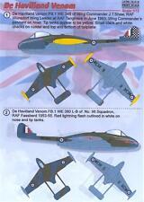 Print Scale Decals 1/72 DE HAVILLAND VENOM British Jet Fighter