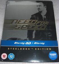 Need for Speed (2014) 2D+3D | Aaron Paul | Blu-Ray Steelbook Edition | NEU NEW