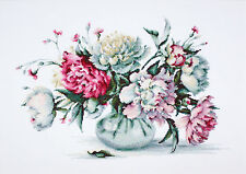 Counted Cross Stitch kit Luca-S Peonies #B2263