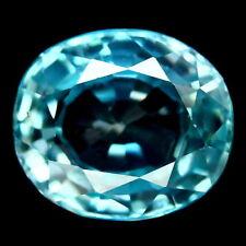 TOP ZIRCON : 3,23 Ct Natürlicher Blau Zirkon aus Kambodscha