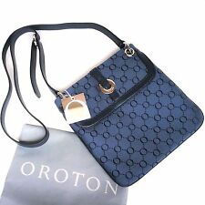 RRP$395 New Oroton Cross body Signature O Bag Handbag Essential  Leather Canvas