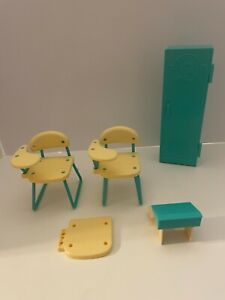 Barbie Teacher Classroom Desks and Locker Playset Replacement Parts from 1990's
