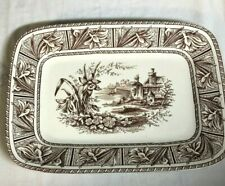 Grindley & Co England Aesthetic Movement 1800s Transferware Daffodil Platter