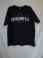 HolyHell Band T-Shirt 2XL  Joey DeMaio Manowar Metal EUC