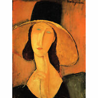 Amedeo Modigliani Portrait Of A Woman With Hat Old Art Painting Canvas Print