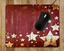Mouse Pad Home Office Gaming Farmhouse Decor Barn Stars Wood Design Mouse Pads