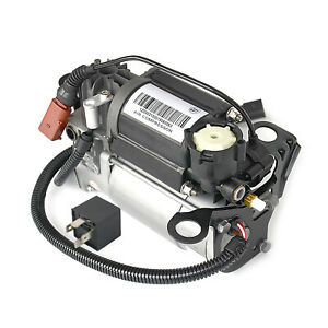 4E0616007A For Audi A8 S8 D3 4E diesel New Air Suspension Compressor Pump& Relay