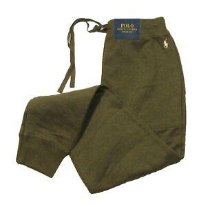 Polo Ralph Lauren Men's Olive Green Fleece Lined Sleep Jogger Pants
