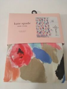 "Kate Spade NY, NEW, PAINTBALL FLORAL, Fabric Shower Curtain 72""x72"". FREE SHIPP."