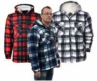 Heavy Duty Hooded Padded Fur Fleece Lined Lumberjack Winter Warm Shirts Jackets