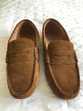 Polo Ralph Lauren Loafers Shoes in Brown Chestnut Suede Size 8UK