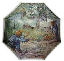 "Gogh ""Frist steps"" painting long size automatic umbrella"
