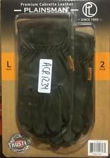 New listing Plainsman Premium Cabretta Leather Work Gloves 2 Pairs Olive - Large