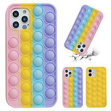 Pop Fidget Toys Push It Bubble Phone Case For iPhone 7 8 Plus X XR 11 12 Pro Max