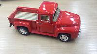 1956 Ford f-100 Camioneta Rojo Kinsmart Modelo Juguete 1/38 escala COCHE DE