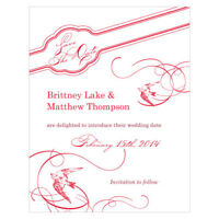 48 French Whimsy Printed Wedding Save Date Cards