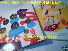 2011 8 monete 3,88 euro FINLANDIA Suomi Finnland finlande finland Rahani baby