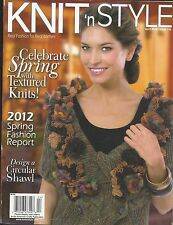 Knit Style magazine Spring textured knits Circular shawl Hand dyes Stitch hat