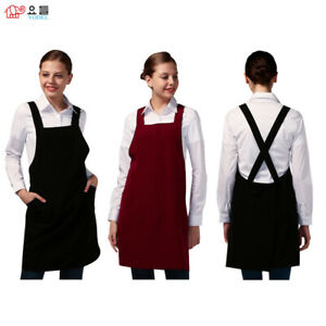 [YODEL] PINKLE mini WIDE STRAP Hairdresser APRON / Hair Salon Staff Apron