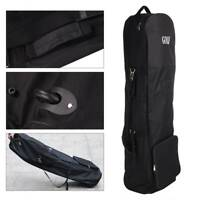 UK Own lightweight  Black Padded Golf Bag holiday travel cover case with wheels.