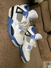 Air Jordan 4 Retro Game Royal White, Blue & Black Mens Size 7 With Box