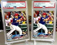 (2) PSA 9 Mint 2018 Topps Update Juan Soto #US300 Rookie Cards RC Nationals MVP?