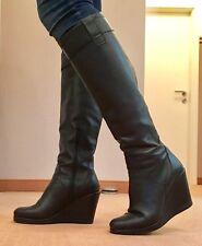 STOP ! Echtleder Damenstiefel Knie Stiefel Italien schöner langer Schaft 42