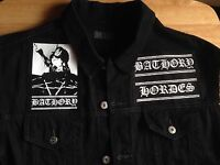 Bathory Black Metal Goat Denim Cut-Off Patch Waistcoat Battle Jacket Vest S-4XL