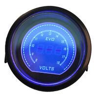 """Universal 2"""" 52mm Blue Red Volt Voltage Car Digital LED Light Gauge Meter"""