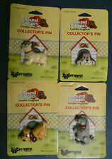 VINTAGE 1986 LOT/4 TONKA POUND PUPPIES COLLECTOR'S PINS BY BUTTERFLY ORIGINALS