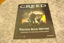 "Creed 2002 promo ad Brian Marshall, Scott Stapp ""Writing Rock History"""