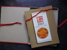 CHINE 2001 Year Book. tous les timbres & mini feuilles neuf sans charnière.