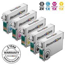 5PK Reman Cartridge Set for Epson Ink 124 T124 WorkForce Printer 320 325 Black