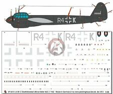 Peddinghaus 1/48 Ju 88 C-4 Markings Alfons Koster 3./NJG 2 Sicily 1942 WWII 2618