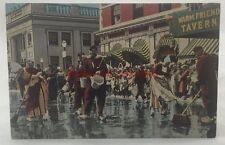 Antique Postcard Scrubbing Up For Tulip Time Holland Michigan Dutch Custom