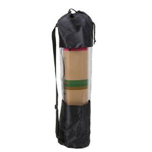 Wear-resistant Yoga Mat Bag Adjustable Carrier Pocket Foldable Fitness Pouch