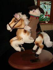 Steiff 038457 Rough Rider Teddybär creme 18cm Pferd 30cm limitiert 441/1858 RARE