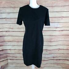 Miss Dorby Womens Sz 10 Black Sheath Dress Faux Suede Stretch   B1