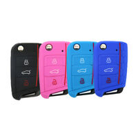 IG_ ALS_ For VW Golf 7 Stylish 3 Buttons Silicone Car Remote Key Protective Cove