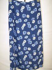 Sophisticate Blue Multi Floral Straight Skirt Womens Size 10 Medium Petite 10P
