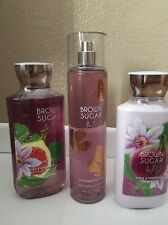 BATH AND BODY Works Brown Sugar And Fig Body  Lotion, Shower Gel And Frag Mist