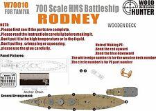 Hunter 1/700 W70010 Wood deck HMS Rodney for Tamiya