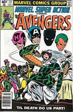Marvel Super Action Comic Book #21 The Avengers 1980 FINE+