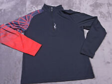 Authentic Spyder Mens FadeT Neck Shirt Black Size Small Nwt