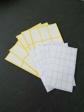 240 White Sticky Self Adhesive Stickers Labels Tags File Jar Plain File 2 Sizes