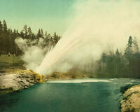Riverside Geyser Yellowstone National Park Wyoming 1905 photochrom Photo Print