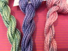 24 Yards of Overdyed/Handpainted #3 Perle Cotton in 3 Colors 726-727